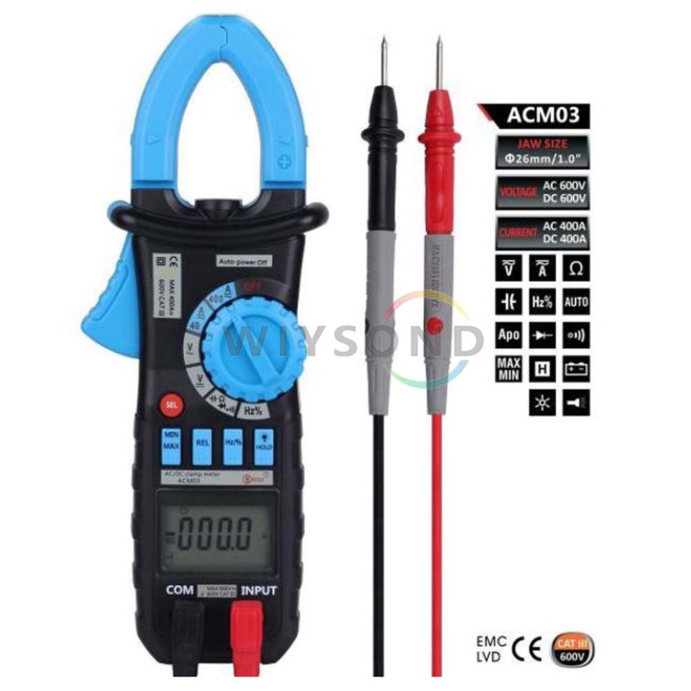 M060 Auto Range ACM03 AC DC Current Voltage Hz Frequency Capacitance Tester Digital Clamp Meter Multimeter