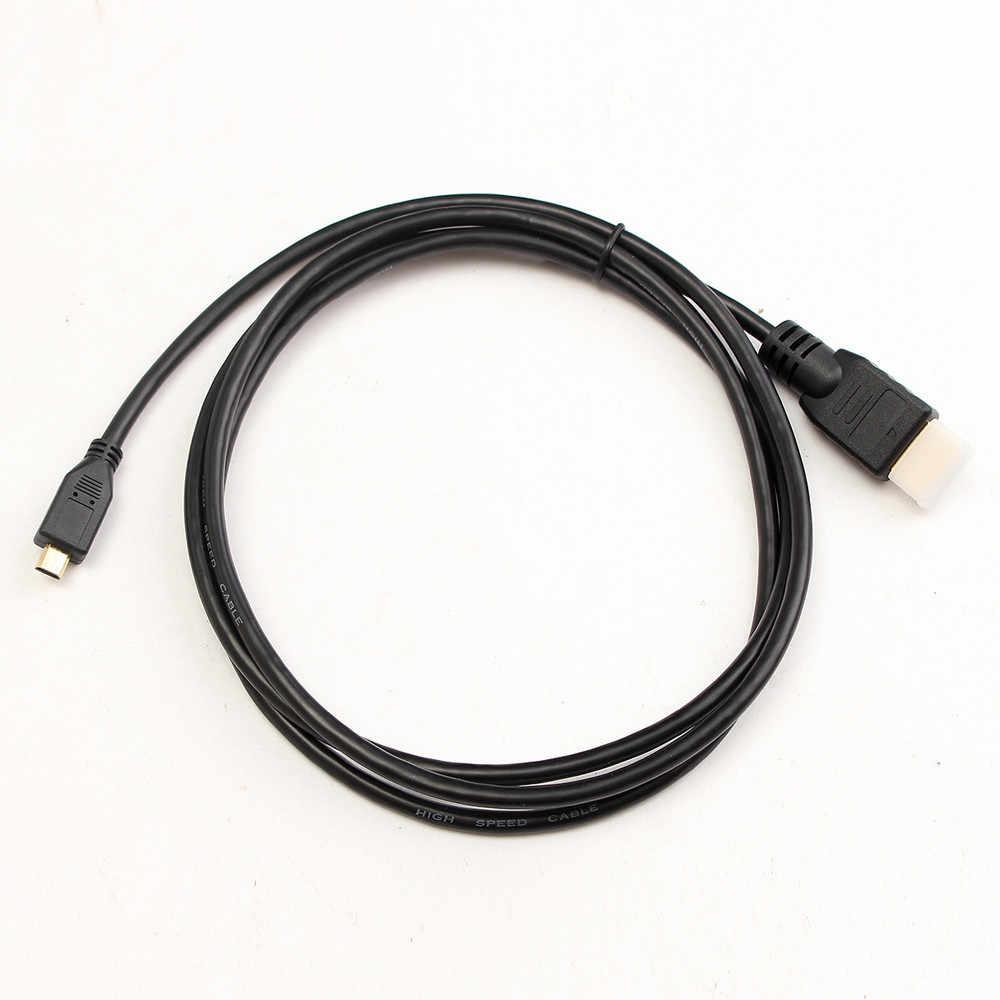 2019 Micro HDMI Ke HDMI Male Adaptor Converter Kabel untuk Droid EVO HTC 4G Mendukung 720i, 720 P, 1080i, 1080 P, 1280X1024 30 #