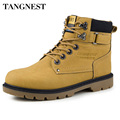 Tangnest Rubber Boots Men 2017 Autumn Casual Working Boots Fashion Male Ankle Boots Solid High Top Platform Shoes Man XMX496