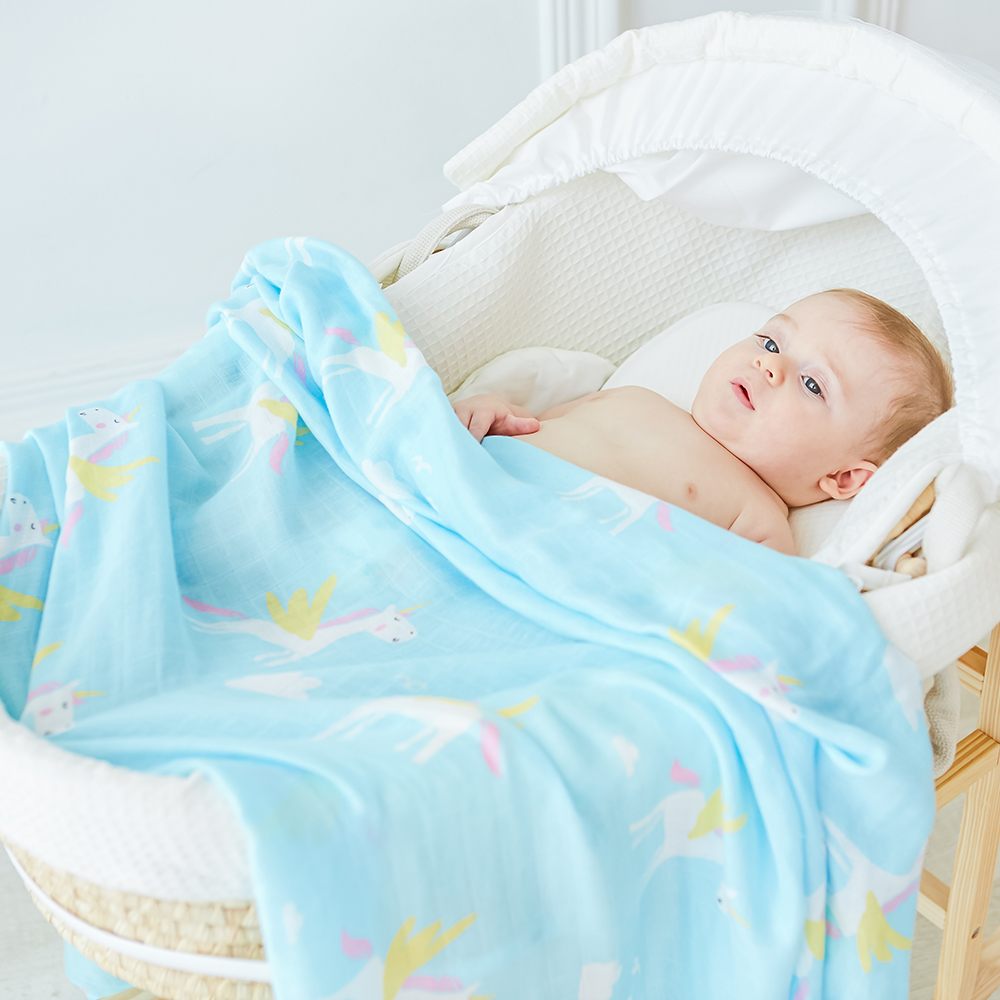 Muslin Baby Blanket 70% Bamboo Super Soft Baby <font><b>Swaddle</b></font> For Newborns Lovely Wraps Baby Bath Towel Bed Sheet Stroller Cover