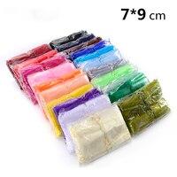 Big Groothandel 800 stks/partij Organza Bag 7x9 cm, Bruiloft Sieraden Verpakking Pouches, Nice Gift Bags, Mix Kleuren