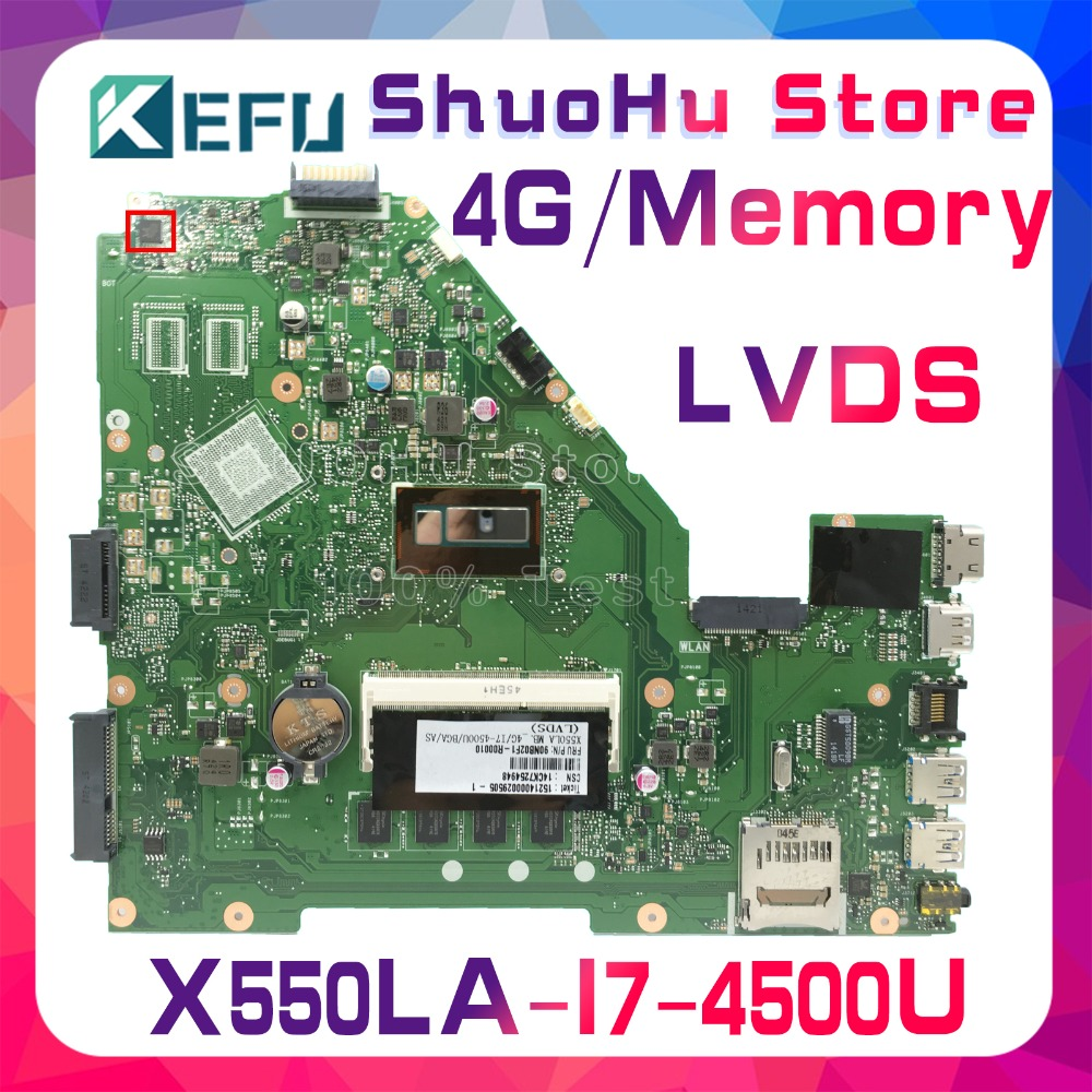 KEFU For ASUS X550LA X550LD X550LC Y581L A550L R510L Y583L I7 laptop motherboard tested 100% work original mainboard|Motherboards|Computer & Office - title=