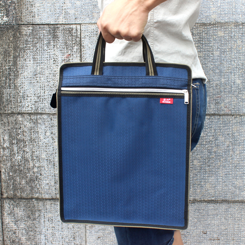 Waterproof Handbag Canvas File Folder Bag Book Paper Document Storage Bag Business Briefcase Office School Supply Customize Logo