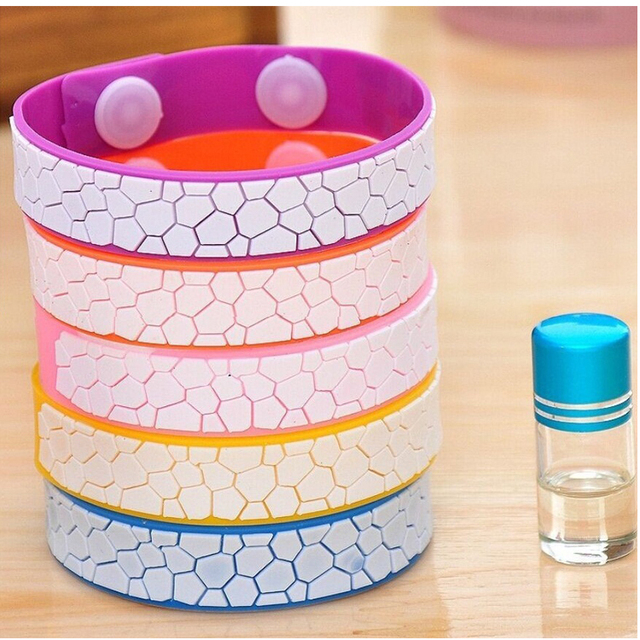 Adjustable Summer Natural Cute Anti Mosquito Bug Repellent Bracelet Wrist Band Natural No Insects For Baby kids pest reject