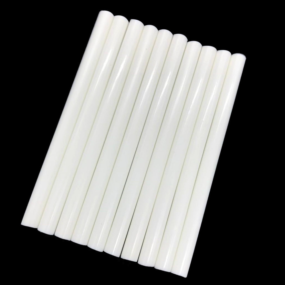 10 Pcs White Color 7MM Hot Melt Glue Sticks  For  Electric Glue Gun Car Audio Craft Repair Sticks Adhesive Sealing Wax Stick