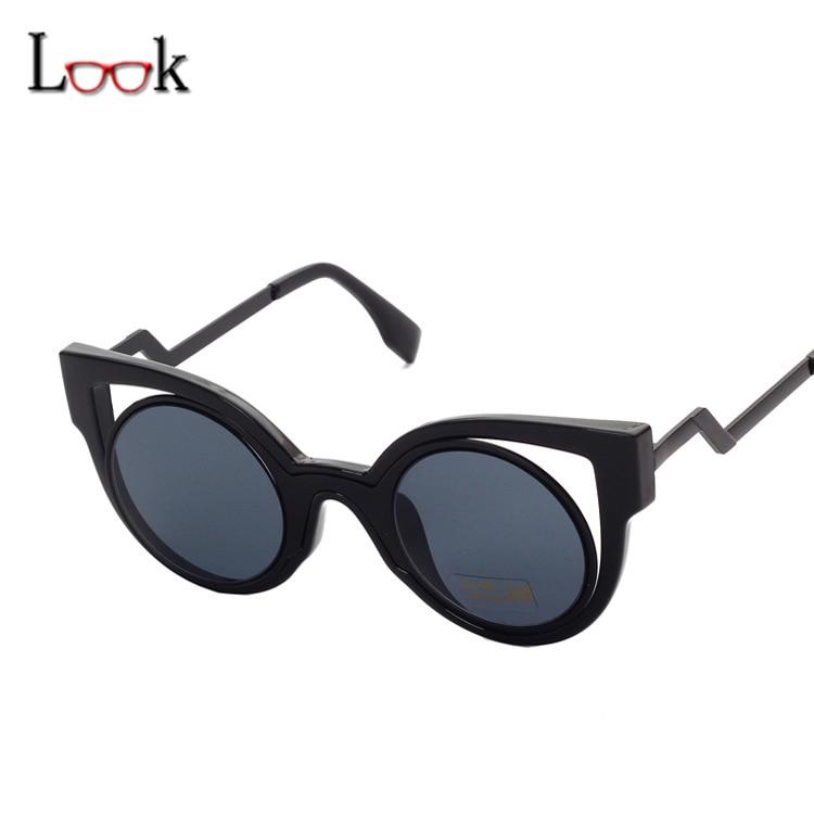 Nouveau 2018 Étoiles Style De Luxe Cat Eye lunettes de Soleil Femmes Marque  Designer De Mode Miroir Lunettes de Soleil Pour Femme UV400 Lunettes  Lunettes a7e6b6f423d2