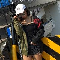 2018 Sale Full Bomber Jaqueta Feminina Inverno Titotato Autumn New Stitching Ring Zipper Ribbon Baseball Uniform Jacket Lovers