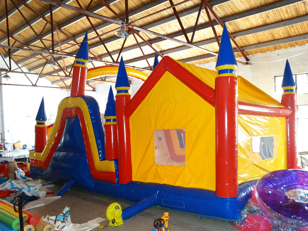 amusement China trampoline inflatable bouncer castle jump slides for kids
