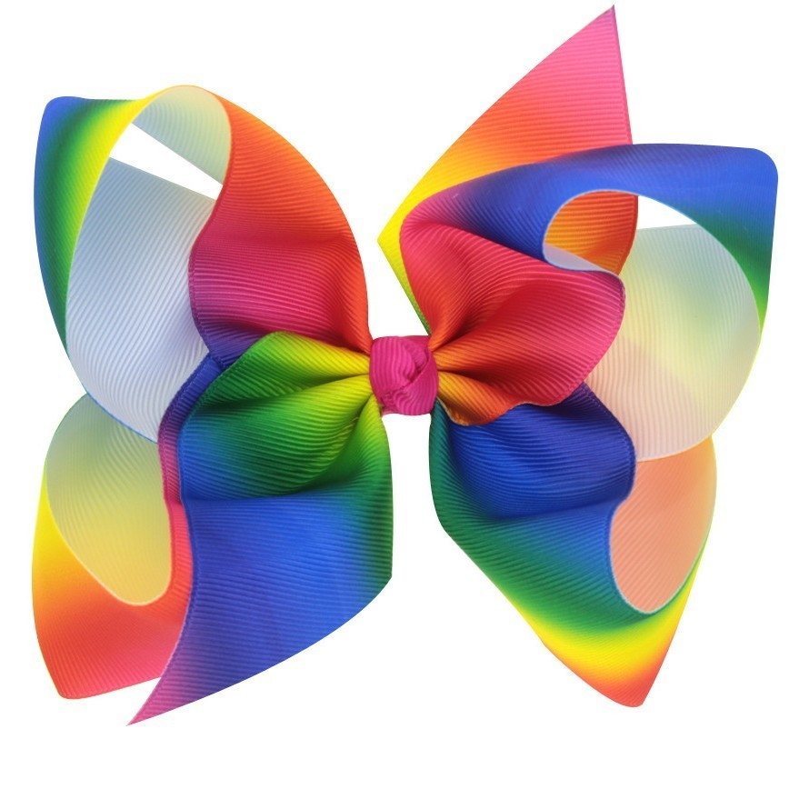 popular handmade rainbow bow hair
