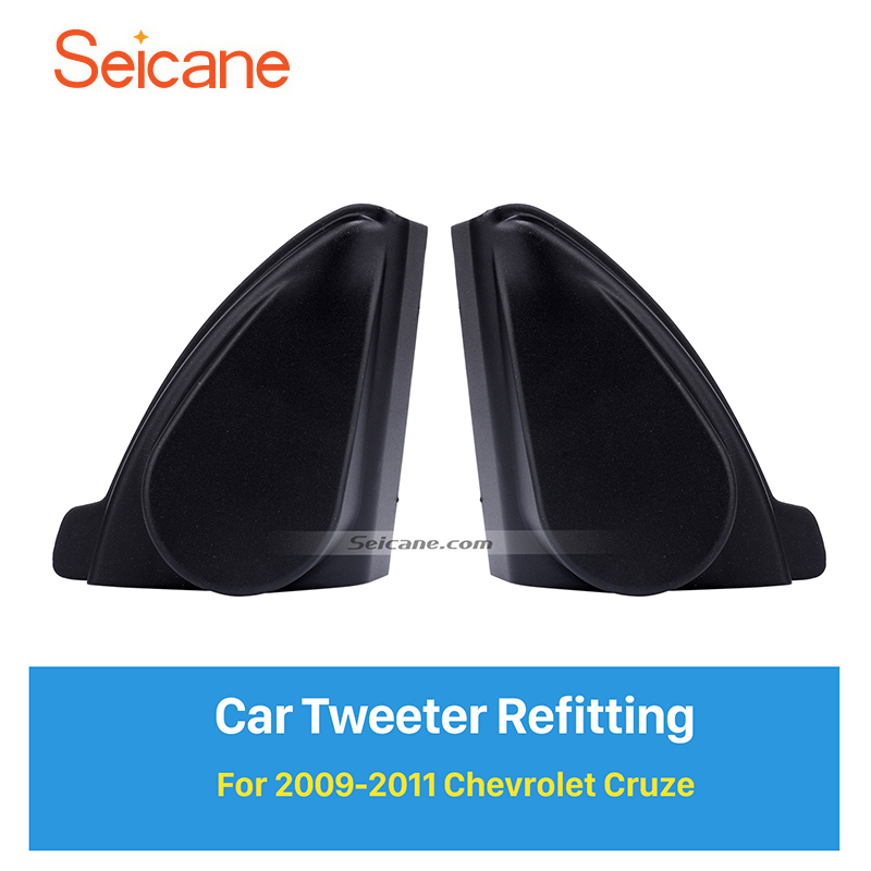 Seicane Car Horn Refit Stereo Installation Tweeter Refitting Boxes for 2009 2011 Chevrolet Cruze Audio Door Angle Gums 2pcs|box for|chevrolet cruze audio|box box - title=