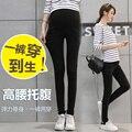 2016 de invierno de Moda Las Mujeres Embarazadas pantalones Vaqueros Elásticos Del Lápiz Pantalones Pantalones de Ropa de Maternidad ropa de maternidad legging más tamaño