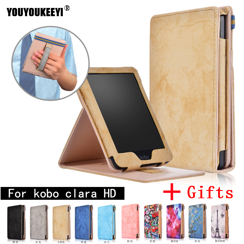 Ultra Slim Shockproof Cover For Funda KOBO Clara Clear HD 6 Inch (2018) Auto Sleep Wake Up Smart Leather For Kobo Clara HD Case