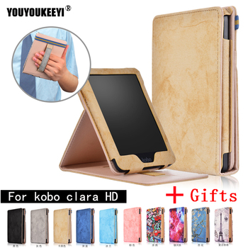 цена Ultra Slim Shockproof Cover For Funda KOBO Clara Clear HD 6 inch (2018) Auto Sleep Wake up Smart Leather For Kobo Clara HD Case онлайн в 2017 году