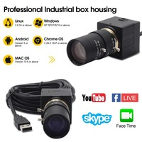 H.264 CCTV Sony IMX322 5 50mm Varifocal Lens Mini USB Webcam Camera 1080P HD Android Linux Windows for PC Video Conference
