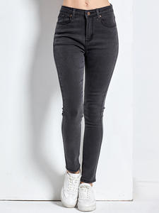 Mom Jeans Denim Pants Black Plus-Size Femme Women's Woman Pencil Mujer Skinny High Damskie