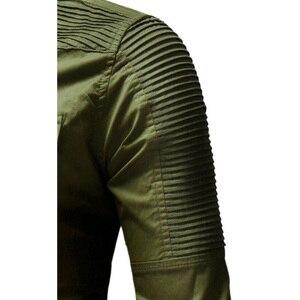 Image 5 - Hcxy 2019 秋男性のジーンズシャツビッグサイズ男性長袖デニムシャツ洗浄長袖のジーンズのシャツ倍の装飾