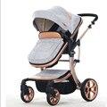 Carritos de bebé de Dos vías de impacto de alta paisaje puede sentarse BB cochecito plegable de aluminio ligero del verano envío gratis