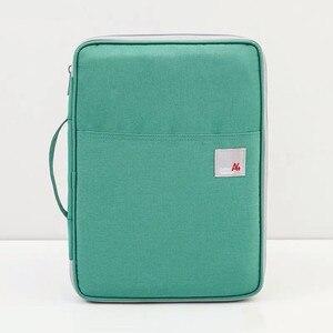 Image 4 - Bolsa de armazenamento multifuncional a4, à prova dágua, organizador de mesa, para laptop e escritório, bolsa com zíper para homens e mulheres