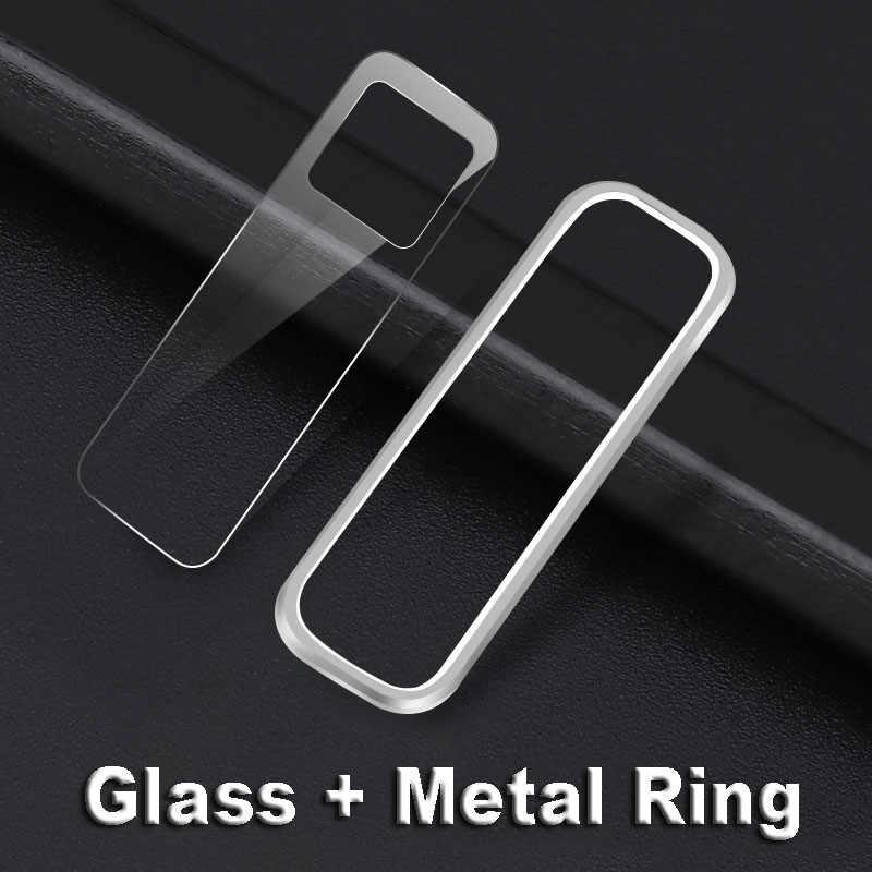 S10 Plus S10 + cristal templado de cámara para Samsung Galaxy S10 Plus S10 + anillo de Metal de aluminio de protección de película de cristal de enfoque trasera