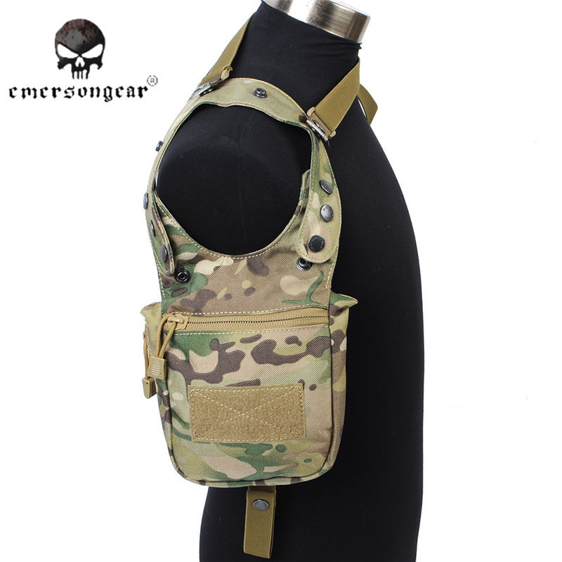 Emerson Nylon Portable Tactical Pouches Adjustable Military Secret Underarm Pouch Outdoor Hunting Camping Accessory Bag EM5744 jinjuli nylon tactical pouch