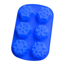 DIY silicone cake mold pudding ice cube manual soap making snowflakes shape
