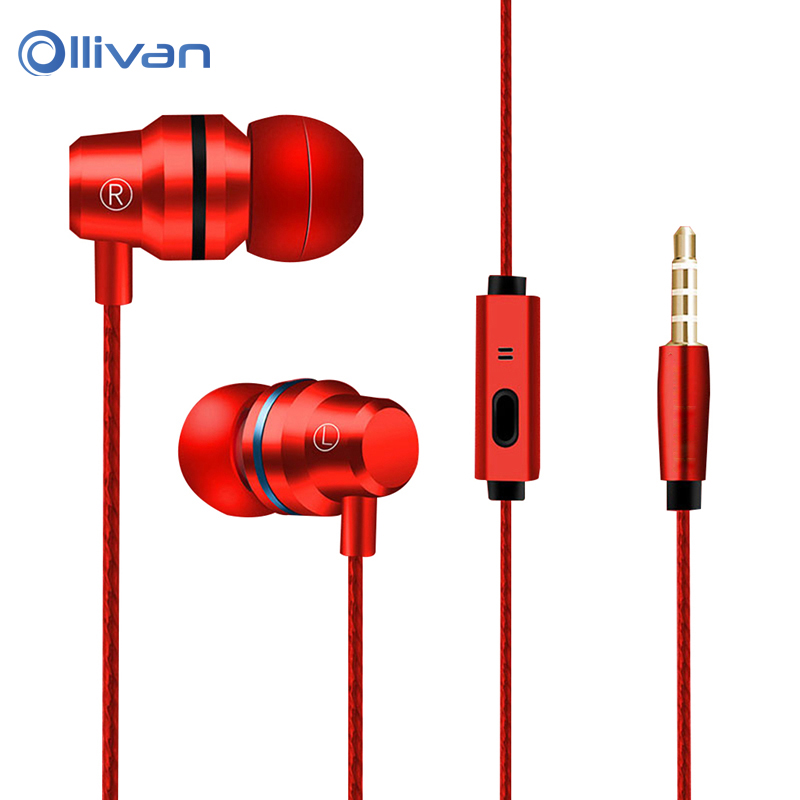 Ollivan G80 Metal In-Ear Earphone Anti-Sweat Stereo Super Bass With Microphone Headset for iPhone for Xiaomi Android CellPhone sport original earphones headphone for iphone samsung xiaomi android in ear mic stereo music bass earphone headset anti sweat