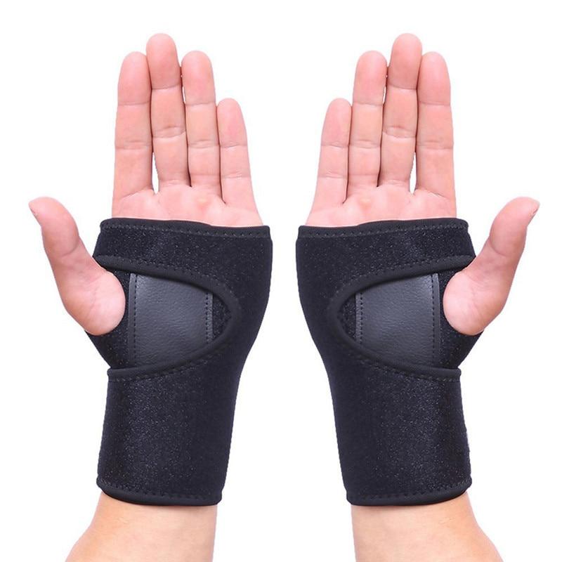 Removable Wristband Steel Wrist Brace Support Arthritis Sprain Carpal Tunnel Splint Wrap Adjustable Wrist Pain Bracers