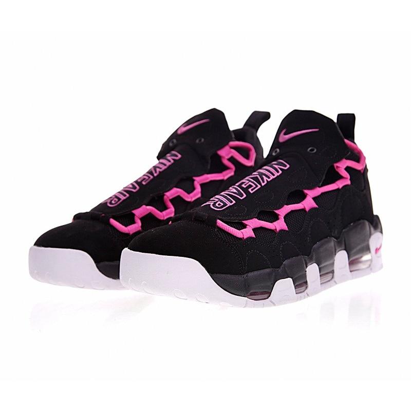 12f4fa7bd24 Original Nike Air More Money Pink QS Women Running Shoes