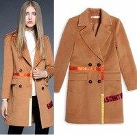 2016 Winter Women Overcoat European And American Fashion Women S Camel Women S Wool Coat 2418