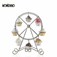 Ferris Wheel 8 Cups Cake Rack Cupcake Stand for Birthday Party Wedding Cake Dressert Decoration Stand