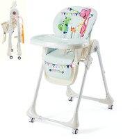 Складная ребенка обеденный стул, может сидеть может лежать Многофункциональный Детский стульчик, Портативный кормить ребенка стул