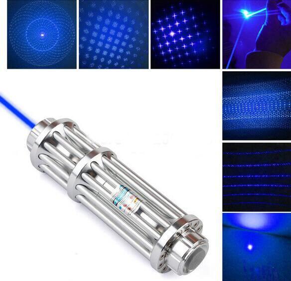 50000m Blue laser pointer Laser only without battery & charger burn cigarette blow solder Laser cannon laser gun
