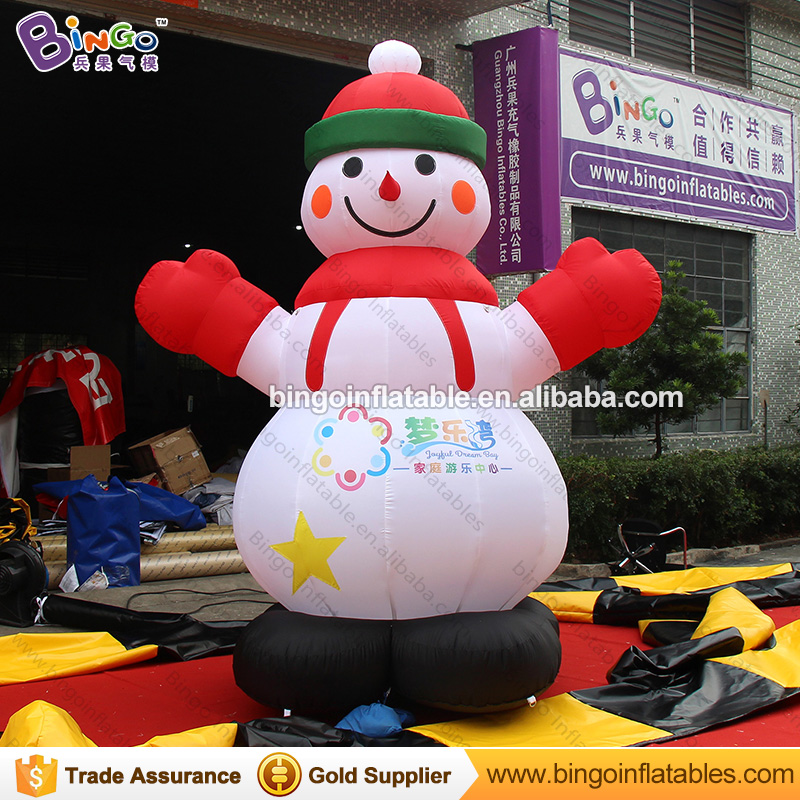 Christmas inflatable snowman, cute 3m tall snowman model, advertising christmas toys for children inflatable cartoon customized advertising giant christmas inflatable santa claus for christmas outdoor decoration