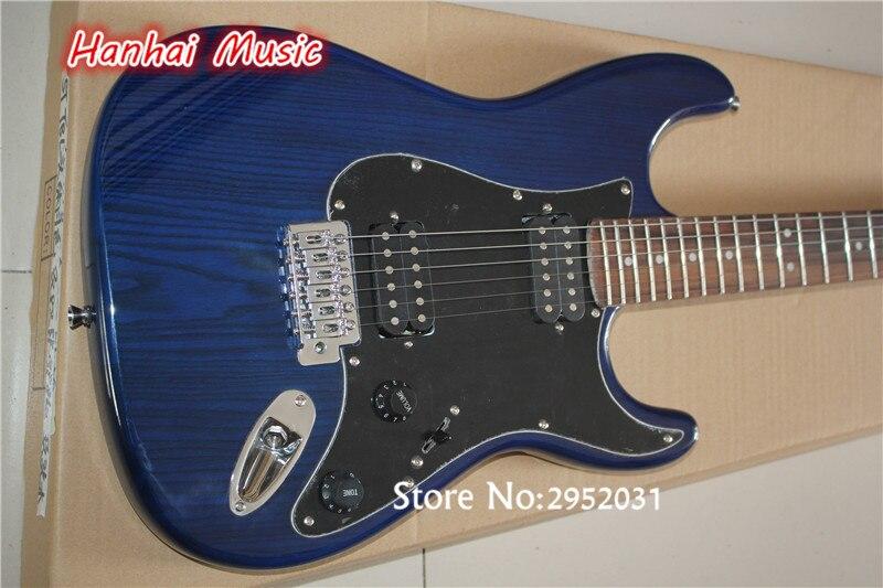 Hot Sale Custom Electric GuitarDark Blue ColorAsh Wood Body