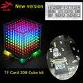 3D 8S 8x8x8 Мини многоцветный светильник cubeeds комплект с tf-картой светодиодный электронный diy комплект, светодиодный дисплей