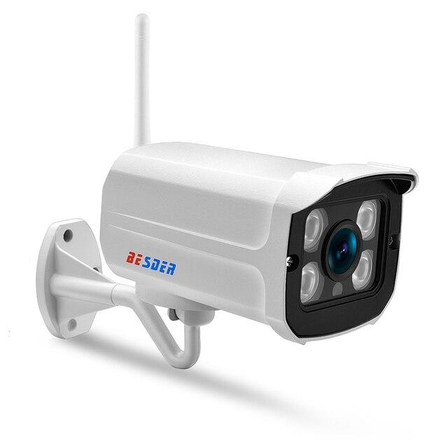BESDER Yoosee IP Wifi Cámara 1080 P 960 P 720 P ONVIF inalámbrico cable P2P 2MP CCTV bala cámara exterior con ranura para tarjeta SD Max 64G