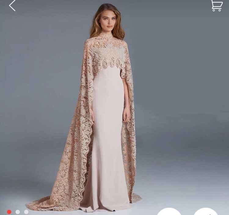 Designer Mermaid Celebrity Dress Up With Cape Wrap Long 2017 New