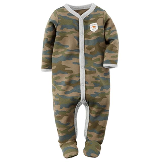 Romper do bebê 100% Algodão Infantil Bebê Recém-nascido Do menino camuflagem grão Leopard Macacões Manga Longa Roupas de Bebê Menino Roupas de Bebê
