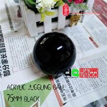 Черный 3 дюйма 280 г 75 мм акриловый мяч для жонглирования(Цвет: черный 7,5 см 3 дюйма) контактный мяч