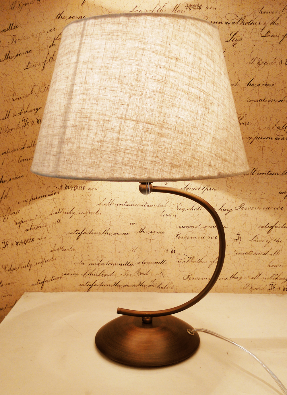 dragonfly wrought cloth cover black iron base E27 table lamp ...