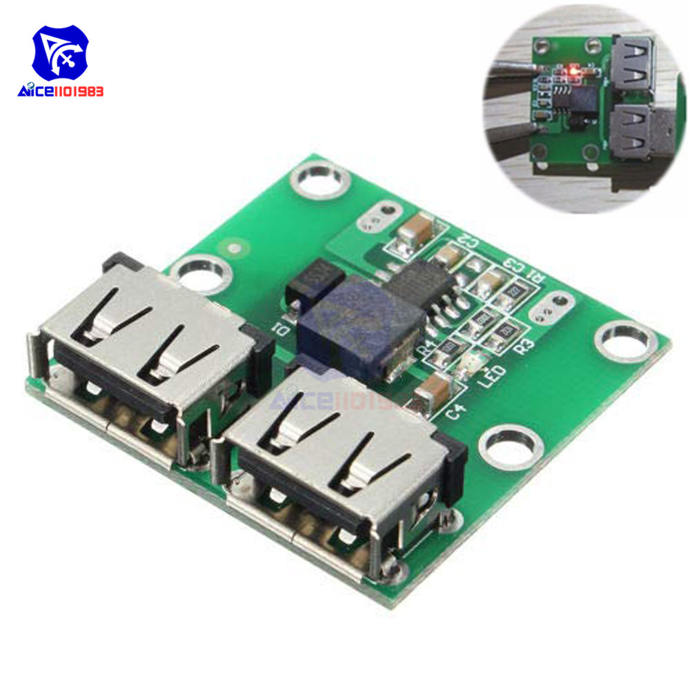 9V 12V 24V To 5V DC-DC Step Down Charger Power Module 2 Double Dual USB Output Buck Voltage 3A Car Charge Charging Regulator