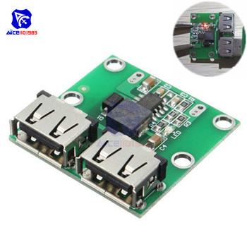 9V 12V 24V to 5V DC-DC Step Down Charger Power Module 2 Double Dual USB Output Buck Voltage 3A Car Charge Charging Regulator image
