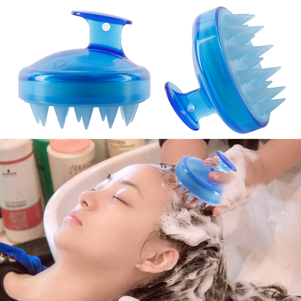 Image 3 - Multi function Spa Slimming Massage Brush Silicone Head Scalp Massage Washing Comb Shampoo Shower Bath Brush-in Combs from Beauty & Health