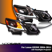 NOVSIGHT 2 шт сигнала поворота светодио дный Сенсор светодио дный фар Выделите проектор для Lexus GS350 2004 2011 света автомобиля