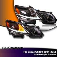 NOVSIGHT 2Pcs Turn Signal LED Sensor LED Headlamp Highlight Projector For Lexus GS350 2004 2011 Car Light