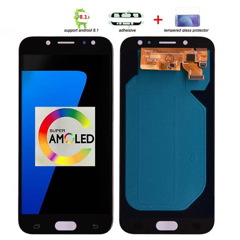 Écran LCD Original Super Amoled pour Samsung Galaxy J7 Pro 2017 J730 J730F avec assemblage de numériseur d'écran tactile