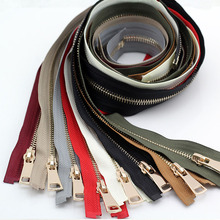 24 Colors 70cm 5# Metal Zipper Open-end for Men's and Women Sewing Down Jacket Clothing Coat Sewing Accessories DIY Craft zip