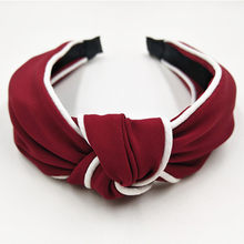 1PC Wide Women Headband Hairband Elastic Headband for Girls Hair Ac cessories Knot Hairband Navy Blue Color Headband Hairband(China)