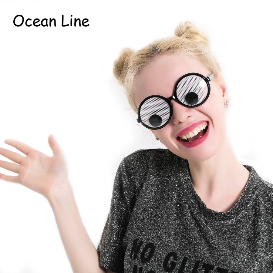 Funny Googly Eyes Gogle Shaking Eyes Okulary i zabawki na Party Cosplay Costume i Halloween Party Decoration