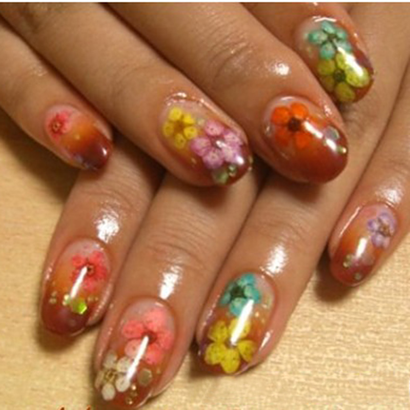 Dried Flowers Nail | Best Nail Designs 2018